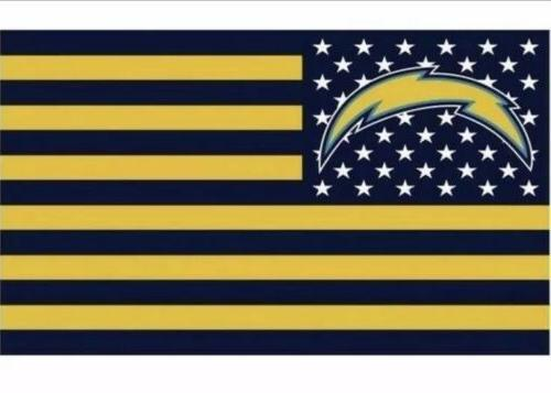 los angeles chargers 3x5 ft american flag