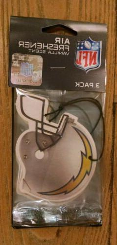 LOS ANGELES CHARGERS AIR FRESHENER  VANILLA OR NEW CAR SCENT