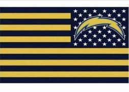 Los Angeles Chargers 3x5 Ft American Flag Football New In Pa