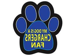 Los Angeles Chargers Car Tailgate Magnet My Dog Is A Fan Paw