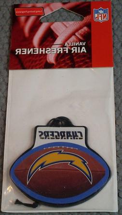 NFL VANILLA  AIR FRESHENER Los Angeles Chargers White Top